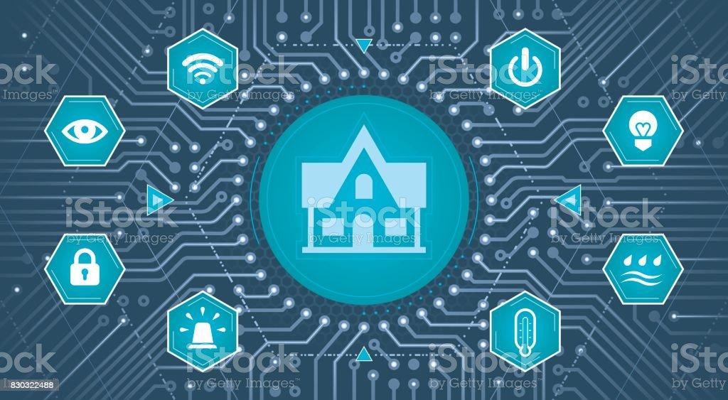 Smart House Concept vector art illustration