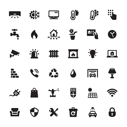 Smart House Features vector icons