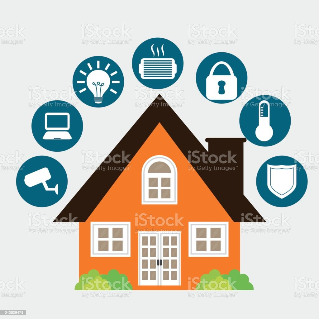 Smart House Icon Design Stock Vector Art & More Images of ...