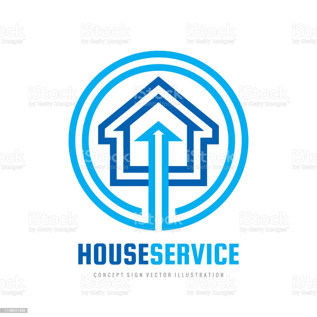 Smart house sign template. Build vector sign. Home digital electronic...