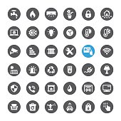Smart House Technology related icons.