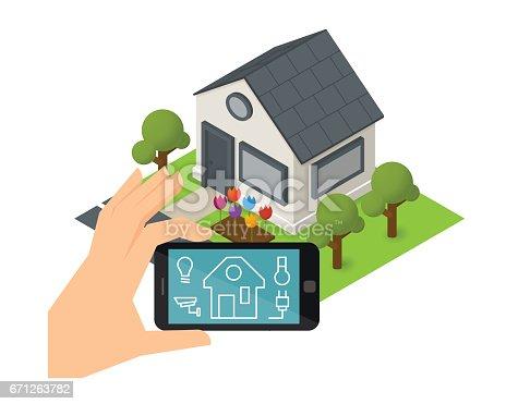 smart haus technologie stock vektor art und mehr bilder von anz nden 671263782 istock. Black Bedroom Furniture Sets. Home Design Ideas