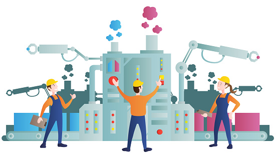 Smart industry production process