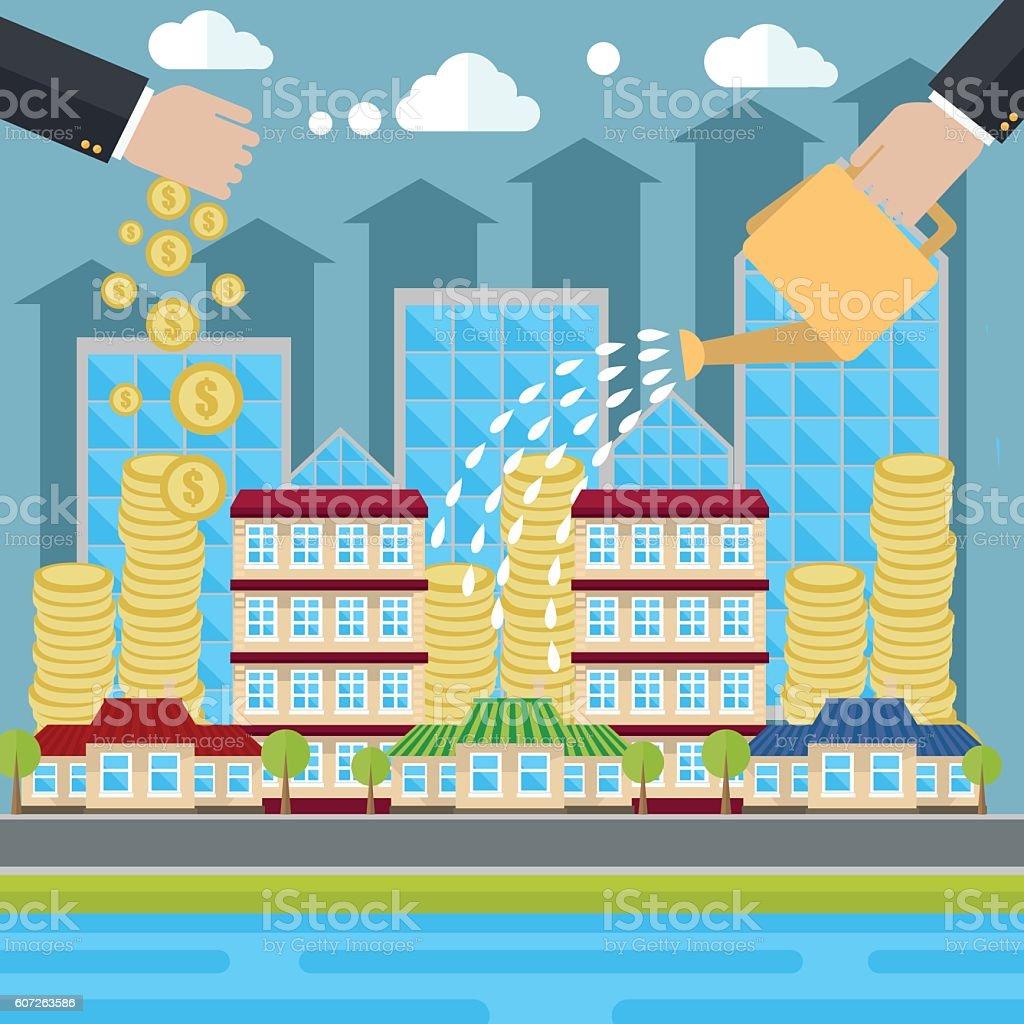 Smart investment illustration vector art illustration