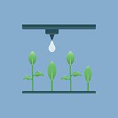 istock Smart Irrigation System Flat Icon. Flat Vector Illustration Symbol Design Element 1208589236