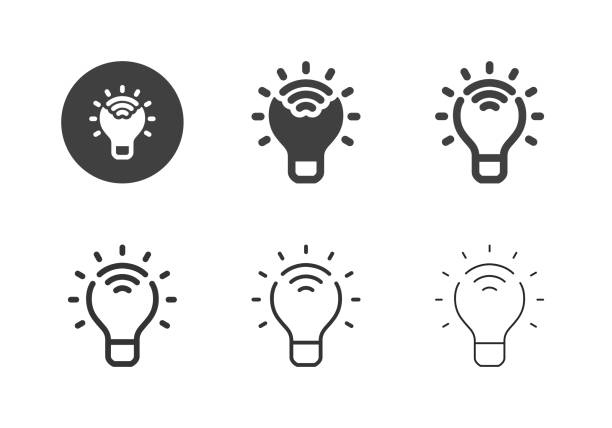 Smart Light Bulb Icons - Multi Series vector art illustration