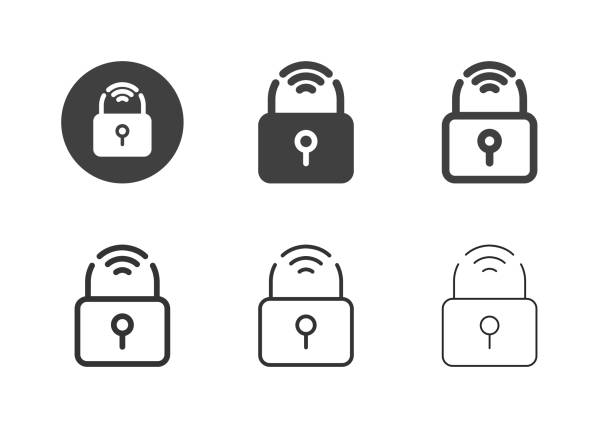 Smart Lock Icons - Multi Series vector art illustration