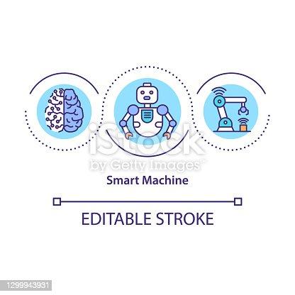 istock Smart machine concept icon 1299943931