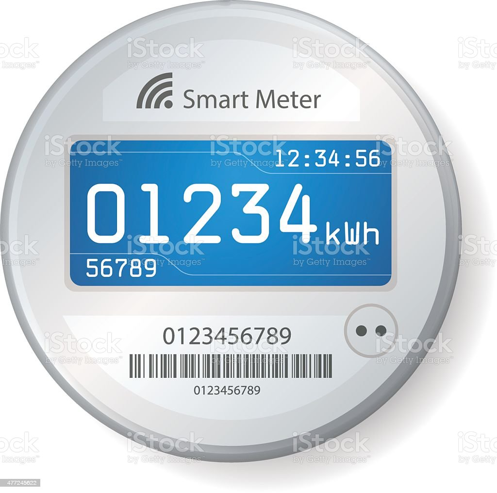 Smart Meter Illustration vector art illustration