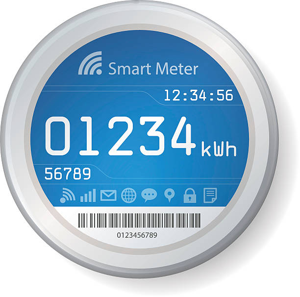 smart meter illustration - intelligence stock illustrations