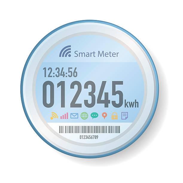 Smart Meter Illustration Smart Meter Illustration smart meters stock illustrations