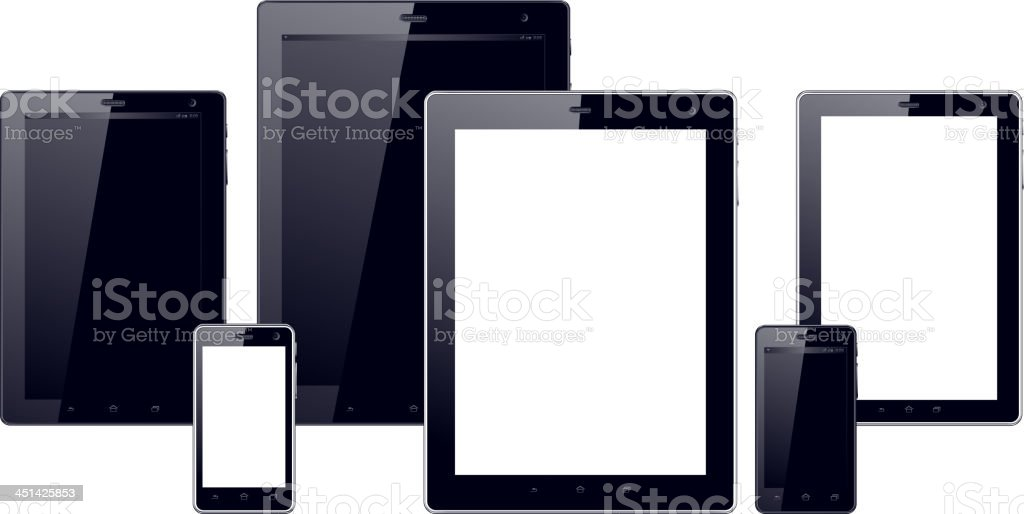 Smart Phone and Computer Tablet royalty-free stock vector art