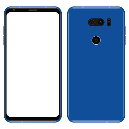 Smart phone: back and front view