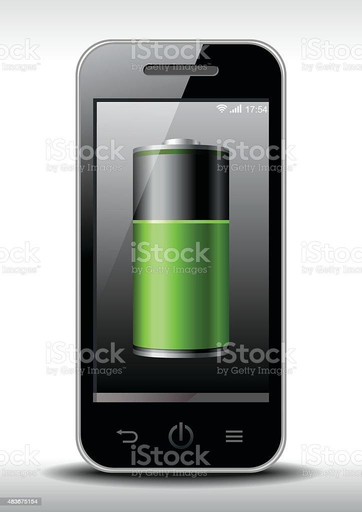 Smart Phone Charging vector art illustration