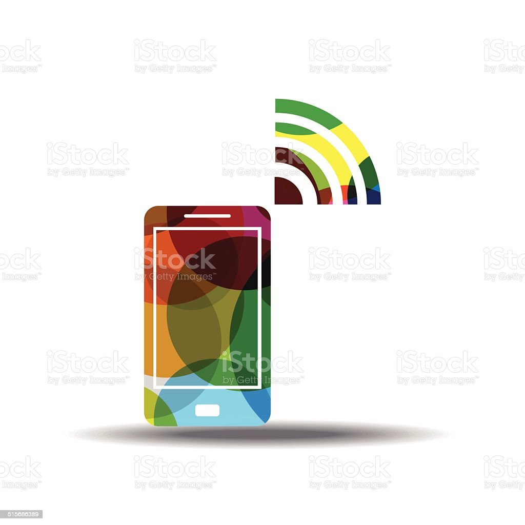 Smart Phone Colorful Vector Icon Design vector art illustration