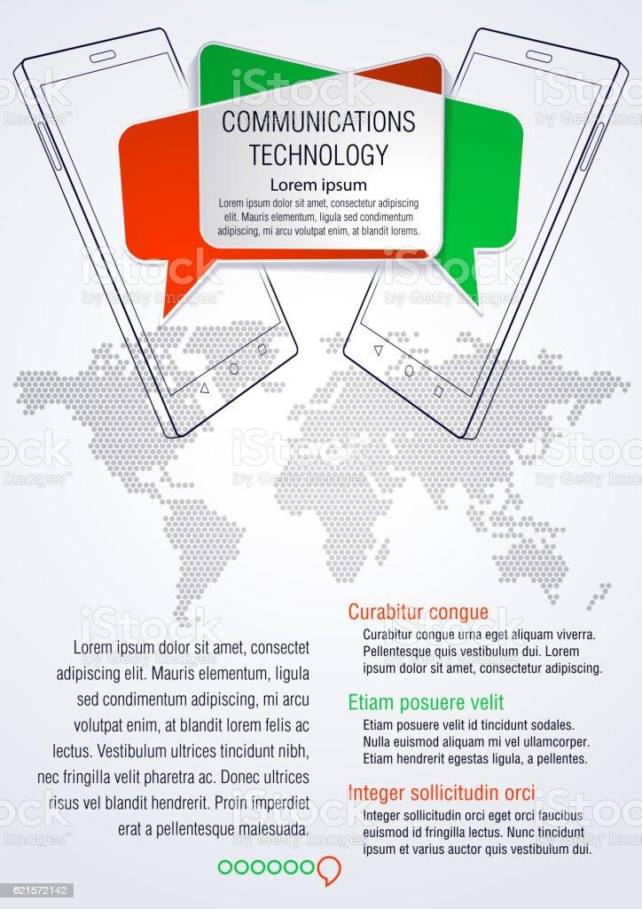 Smart Phone. Communications technology. smart phone communications technology – cliparts vectoriels et plus d'images de affaires finance et industrie libre de droits