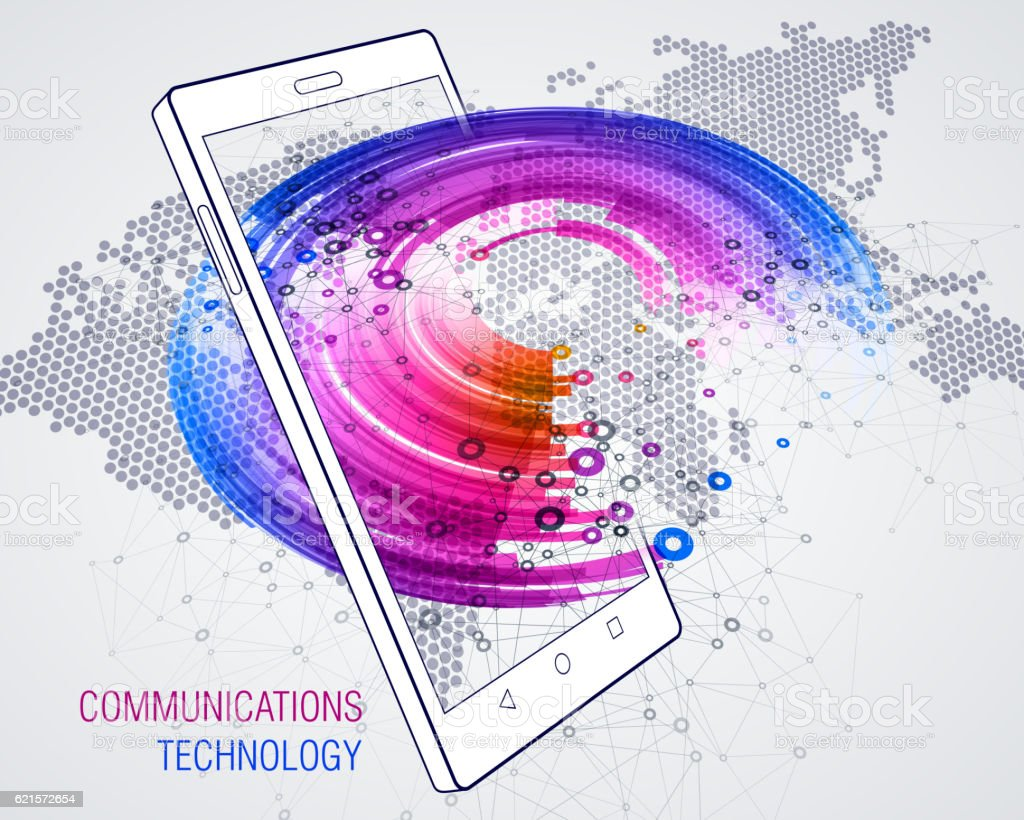 Smart Phone. Communications technology smart phone communications technology – cliparts vectoriels et plus d'images de affaires finance et industrie libre de droits