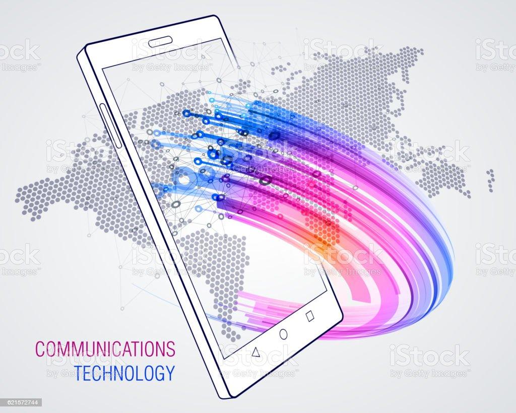 Smart Phone. Communications technology smart phone communications technology – cliparts vectoriels et plus d'images de affaires finance et industrie libre de droits
