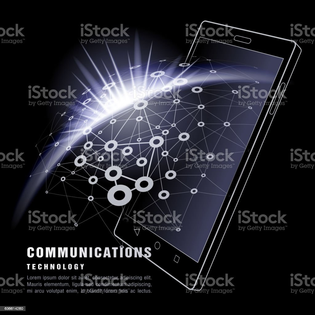 Smart Phone. Communications technology. vector art illustration