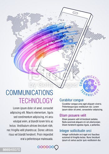 Smart Phone, communications technology. Infographics