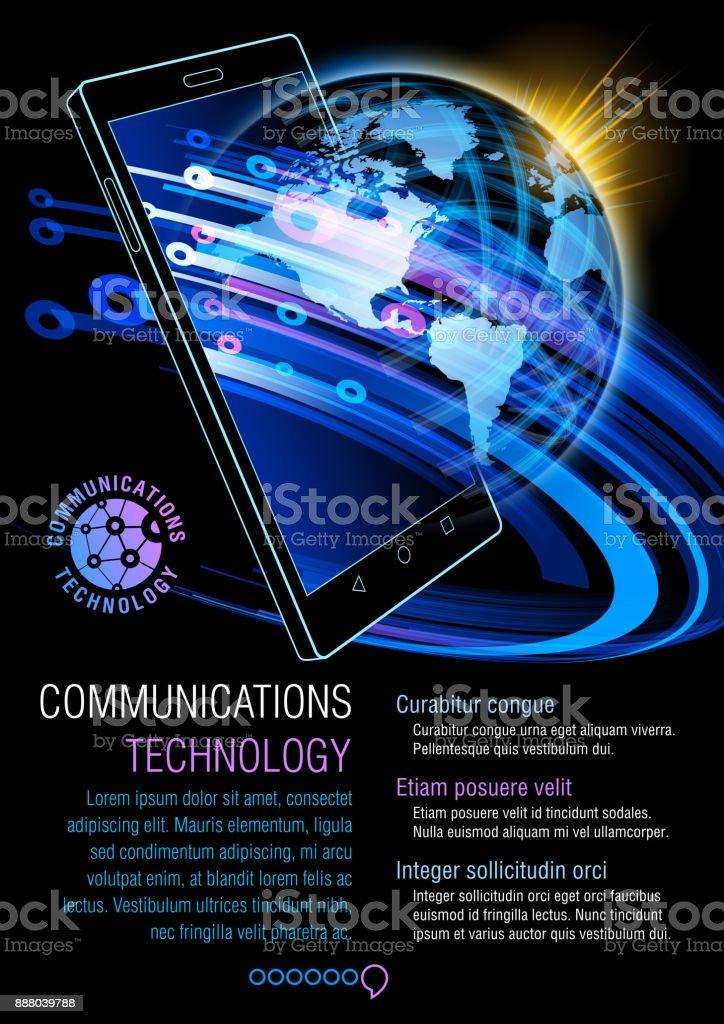 Smart Phone, communications technology vector art illustration