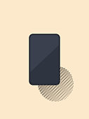 Vector illustration of a minimalistic and elegant smart phone design, great for social media platforms, online messaging apps, mobile ideas and concepts, business and technology, office and equipment, travel and transportation and a wide array of design projects in need of a cool icon or symbol.