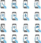 Smart Phone Functions icons - Color Series | EPS10