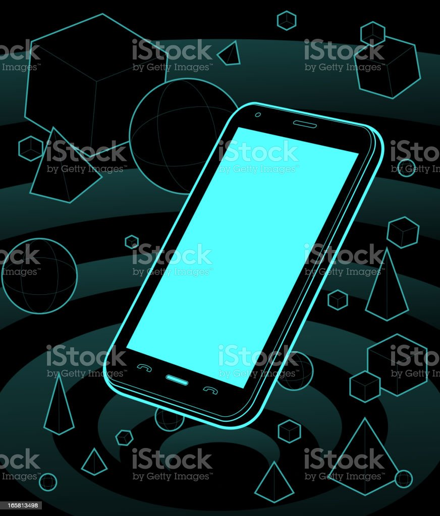 Smart phone galaxy royalty-free stock vector art