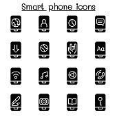 Smart phone icon set