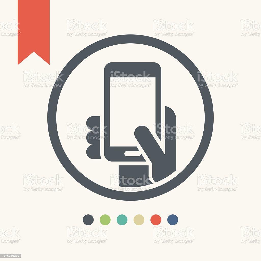 Smart phone icon vector art illustration
