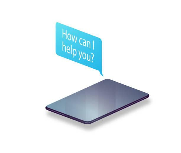 Smarta telefon meddelanden vektorkonstillustration