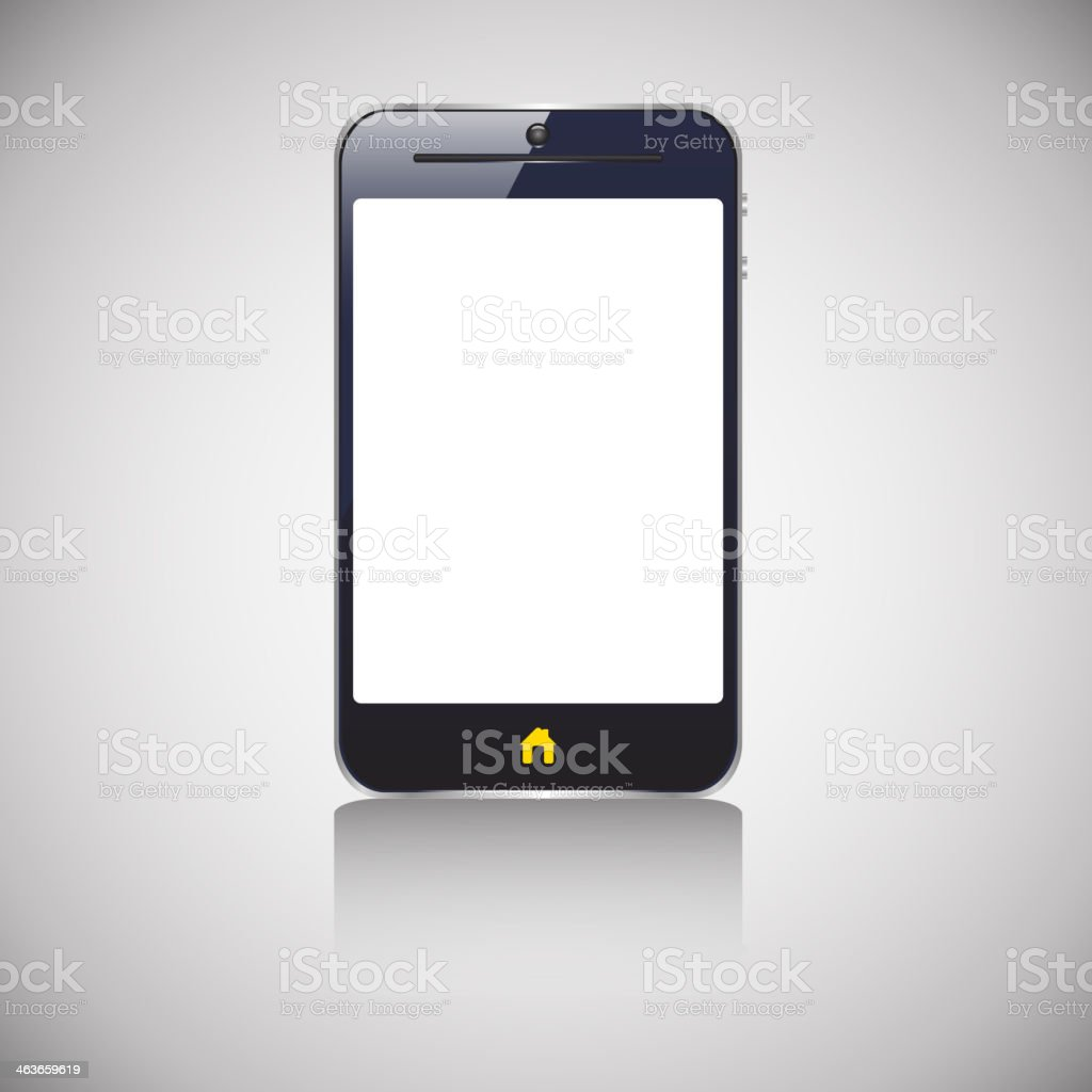 smart phone shadow royalty-free stock vector art