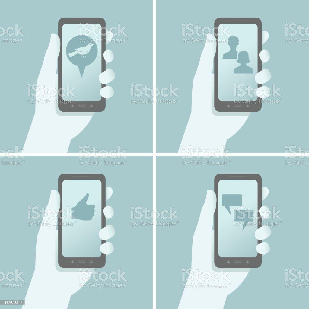 Smart Phone Social Media royalty-free smart phone social media stock vector art & more images of communication
