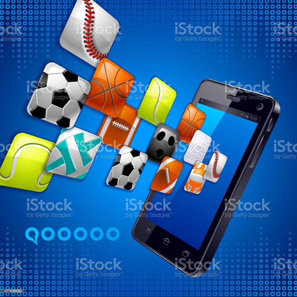 Smart Phone, sport vector art illustration