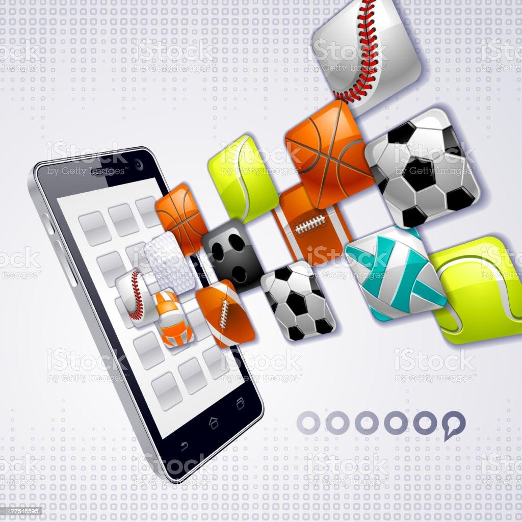 Smart Phone, sport royalty-free stock vector art