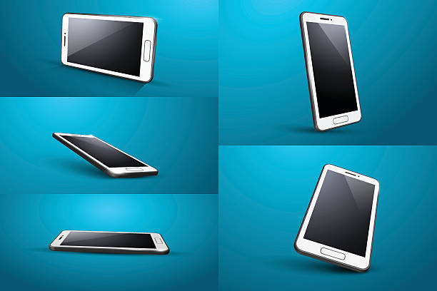 smart phone vector art illustration
