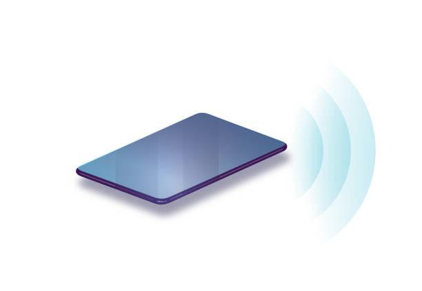 Smart telefon trådlös anslutning vektorkonstillustration