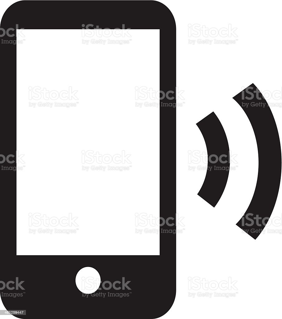 Smart Phone Wireless Icon App vector art illustration
