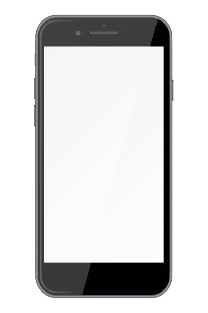 smart phone with blank screen isolated on white background. - smartphone stock illustrations