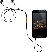 Smart Phone With Earphones