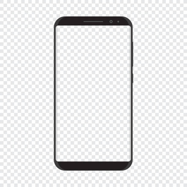 ilustraciones, imágenes clip art, dibujos animados e iconos de stock de teléfono inteligente con fondo transparente - cristalino