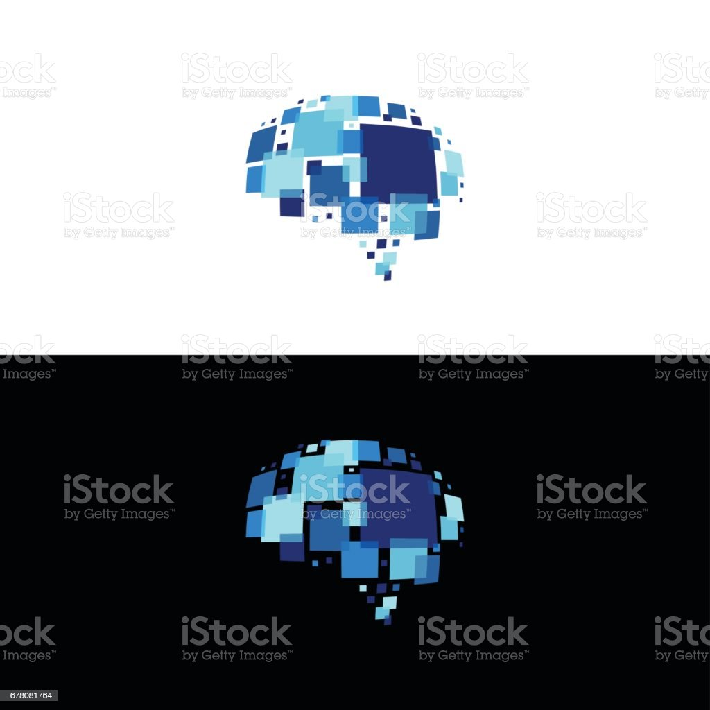 Smart pixels vector art illustration
