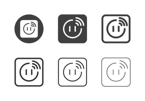 Smart Plug Icons - Multi Series vector art illustration