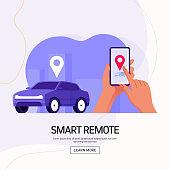 Smart Remote Concept Vector Illustration for Website Banner, Advertisement and Marketing Material, Online Advertising, Business Presentation etc.