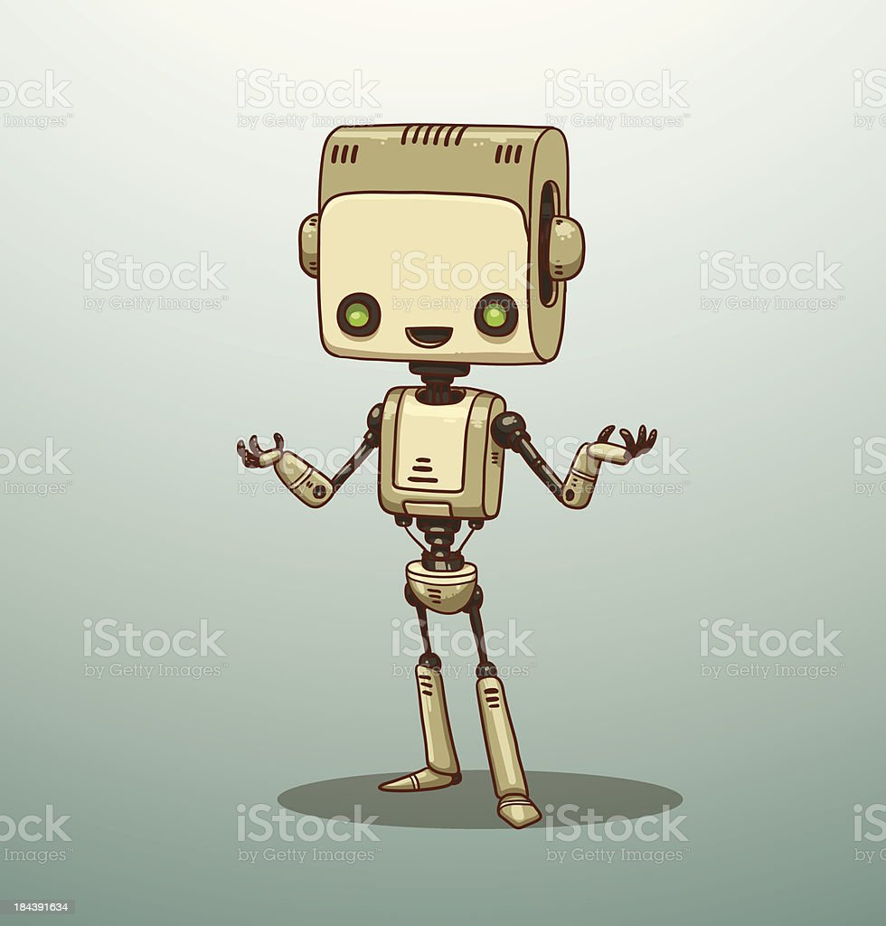 Smart robot white royalty-free smart robot white stock vector art & more images of anticipation