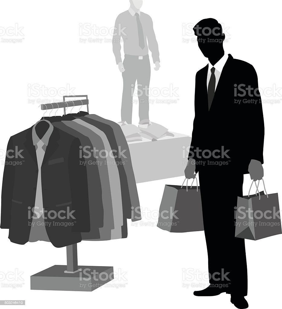 Smart Shopper vector art illustration
