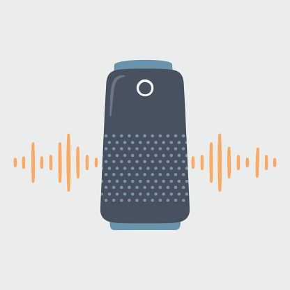 Smart speaker and soundwave. Home Personal voice assistant.