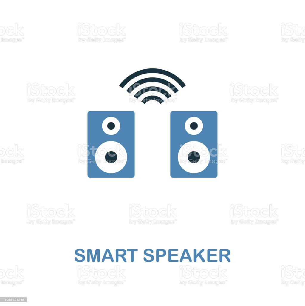 Smart Speaker Icon In Two Colors Design Premium Style From Smart Devices Icon Collection Ui Illustration Of Smart Speaker Icon For Web Design Apps Software And Printing Stock Illustration Download Image