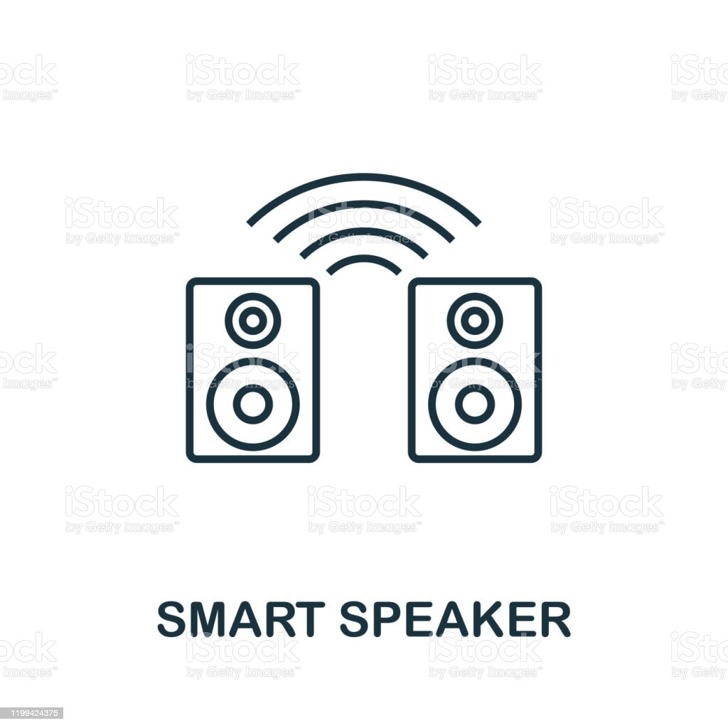 Smart Speaker Outline Icon Creative Design From Smart Devices Icon Collection Premium Smart Speaker Outline Icon For Web Design Apps Software And Printing Stock Illustration Download Image Now Istock