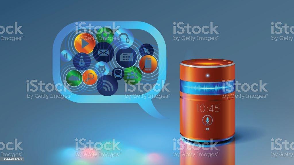 smart speaker vector art illustration